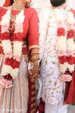 Ravishing couple holding hands