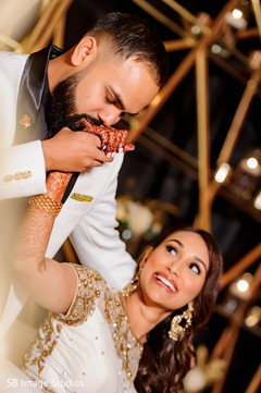 Beautiful moment between the Indian lovebirds