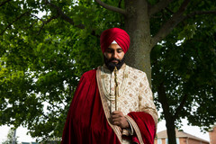 Charming Indian groom photo shoot.