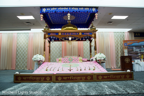 Incredible Indian Sikhism wedding ceremony decor.