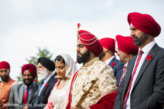 Indian groom about to enter his wedding ceremony.