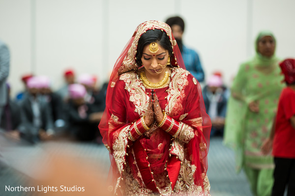 Maharani's capture at her wedding Sikhism  ceremony.