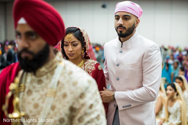 Indian bride at her Sikhism ceremony capture.