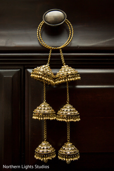 Stunning Indian bridal bangles with bells hanging.