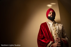 Enchanting Indian groom ready for his wedding ceremony.