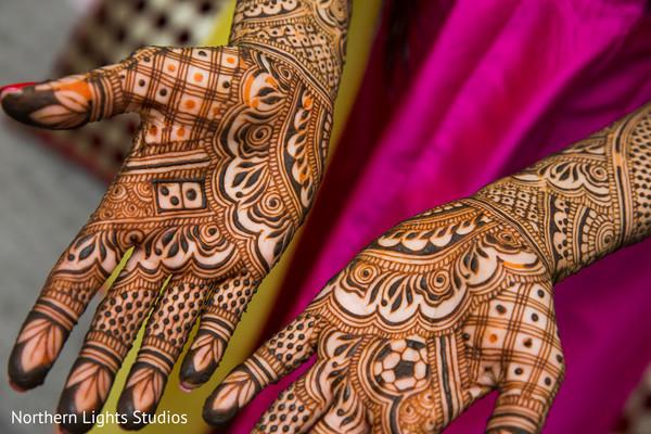 Bridal mehndi art closeup capture.