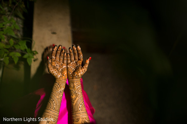 Stunning Indian bridal henna art capture.