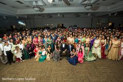 Stunning Indian wedding reception party photo.
