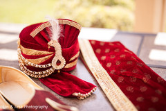 Details of Indian groom's accessories