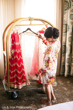 Maharani about to get dressed for the ceremony