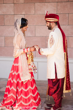 Indian couple's first glance