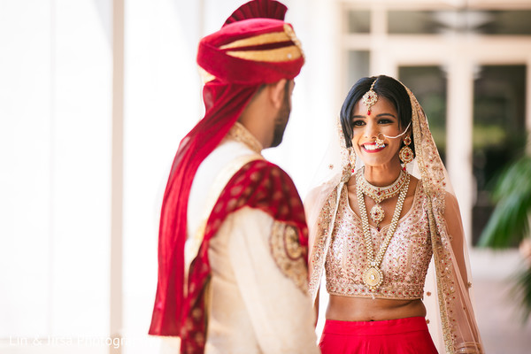 Indian bride meeting with the Raja for pictures