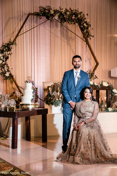 Ravishing Indian couple at the reception venue