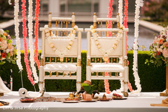 Decoration of chairs for the Indian wedding ceremony