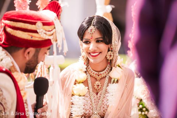 Maharani staring at the Indian groom