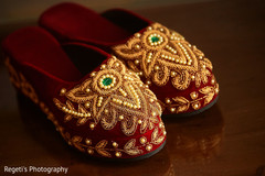 Details of shoes used at the Indian wedding ceremony