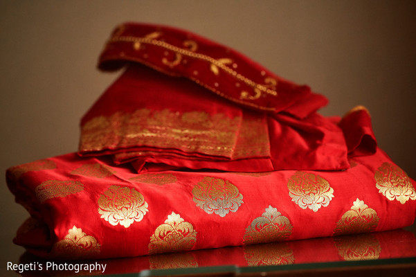 Details of the fabric used at the ceremony