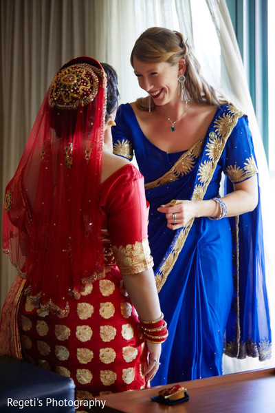 Beautiful Maharani and special guest getting ready