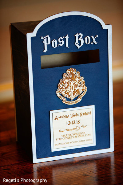 Post box for Indian wedding guests messages