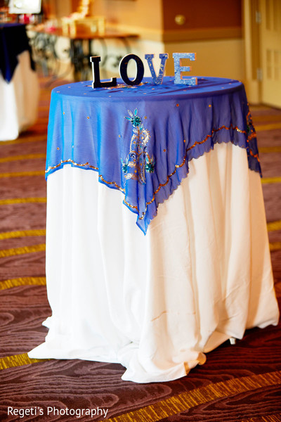 Details of the table at the Indian wedding ceremony