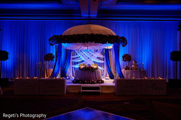 Indian wedding decor details for the reception