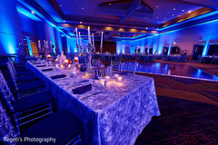 Dreamy Indian wedding reception table set up