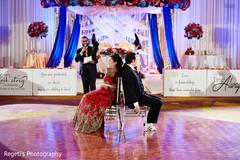 Joyful moments of the Indian wedding reception