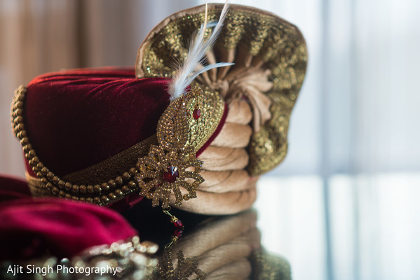 Details of traditional pagri before the ceremony