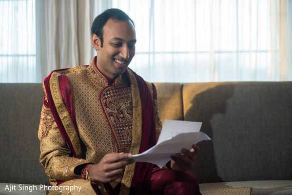 Raja reading Maharani's letter