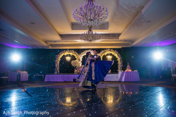 indian wedding,dance,newlyweds,venue