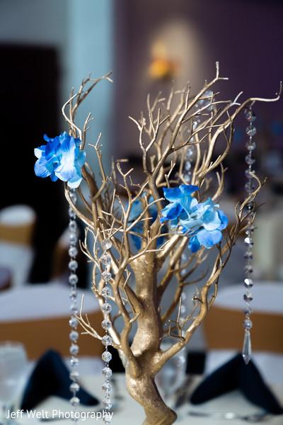 Stunning Indian wedding table centerpiece decor.
