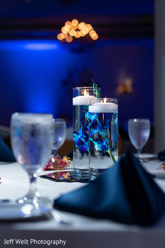 Marvelous Indian wedding table candle decor.