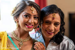 Indian bride and relative portrait.
