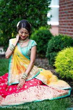 Sensational outdoor themed Indian bridal photo shoot.