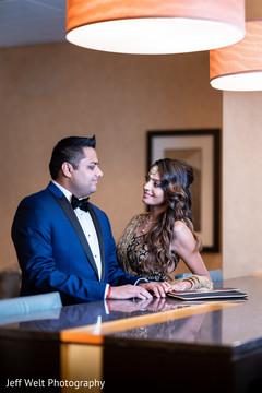 Elegant Indian bride and groom capture.
