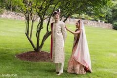 Indian bride on her way to meet groom