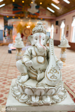 Statue of Ganesha at the venue