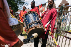 Talented dhol players performing