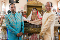 Dazzling Indian bride at the ceremony