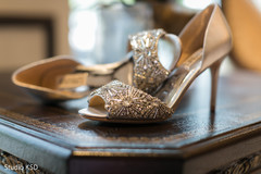 Detail of shoes to be used by Maharani
