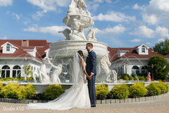 See this beautiful capture of Indian bride and groom outdoors