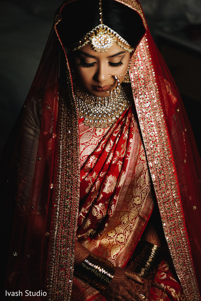 Stunning capture of Maharani ready for her ceremony.