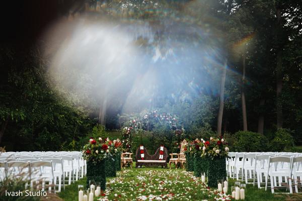 indian wedding ceremony,flowers decor,ceremony aisle