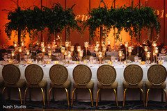 Stunning Indian wedding reception table setup.
