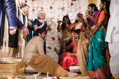 See this lovely Indian couple at their ceremony rituals.