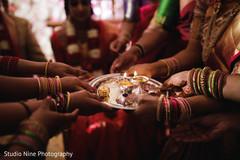 Closeup capture of Indian wedding ceremony sacred fire.