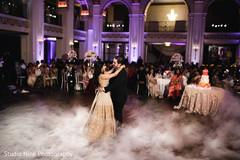 Dreamy Indian wedding reception dance.