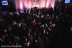 Stunning Indian wedding reception dance lights.
