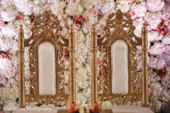 Impressive Indian wedding mandap seats decor.