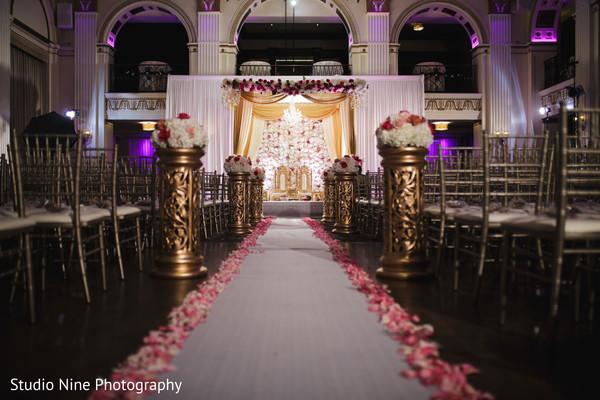 indian wedding ceremony,aisle decor,mandap,flowers decor